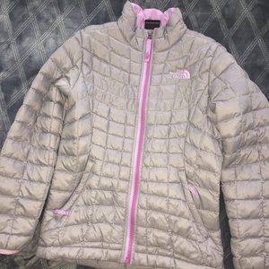 North Face Girls Thermoball Jacket, Sz Small